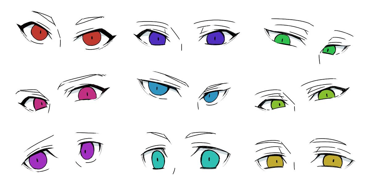 熊猫人漫画_动漫人物眼睛绘画教程图-普画网
