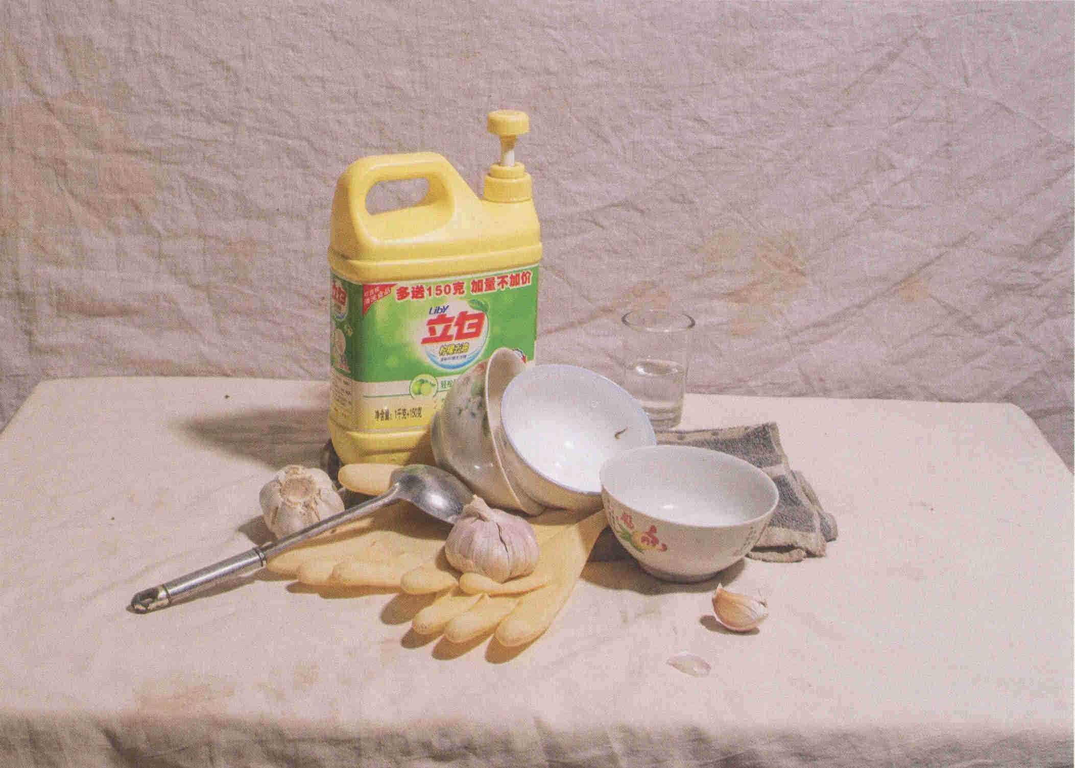 素描静物立白洗衣液瓶子、大蒜碗等组合道具 超清